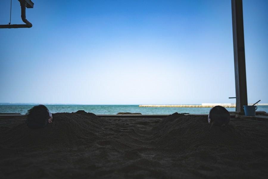 撮影地:別府海浜砂湯