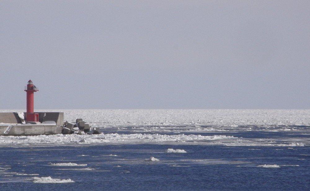 オホーツクの海の幸を育む流氷