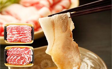 【冷凍発送】島安納黒豚スライスBバラ・肩ロース各1kg(N027SM-C)