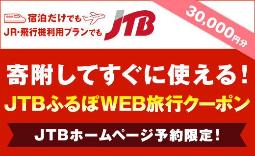 【秋田市】JTBふるぽWEB旅行クーポン(30,000円分)