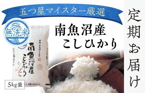 【頒布会】(5kg×2全12回)無洗米 南魚沼産こしひかり