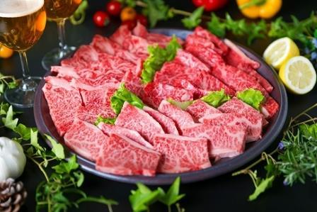 (まるごと糸島)A4糸島黒毛和牛焼肉、バーベキューセット3品盛り1500g入り