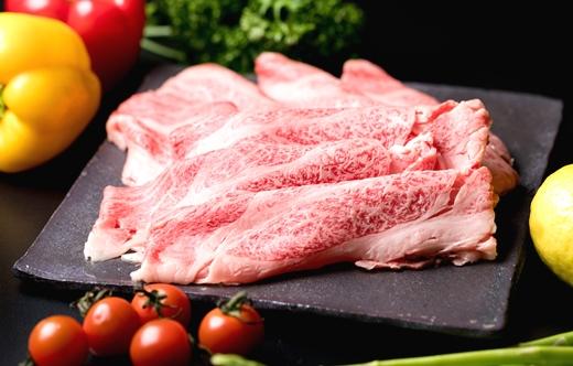 (まるごと糸島)A4ランク糸島黒毛和牛肩ロース肉すき焼き用800g