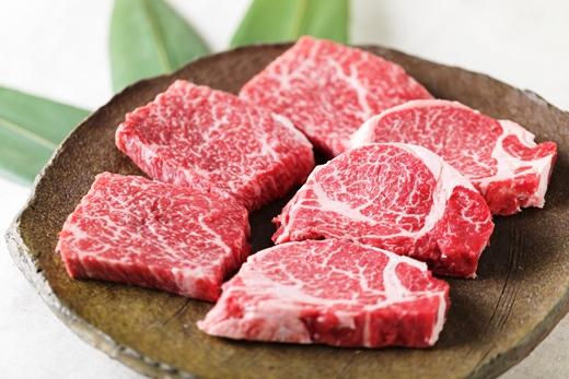 (まるごと糸島)A4ランク糸島黒毛和牛柔らかステーキ肉セット(ヒレ肉、ランプ肉)6枚入り