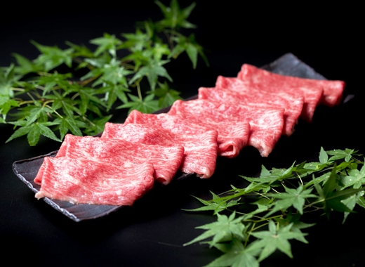 (まるごと糸島)A4ランク糸島黒毛和牛モモ肉スライス1kg
