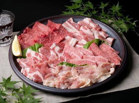 (まるごと糸島)A4ランク糸島黒毛和牛入り焼肉、バーベキュー800g