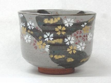 乾山写し鉄絵桜茶碗
