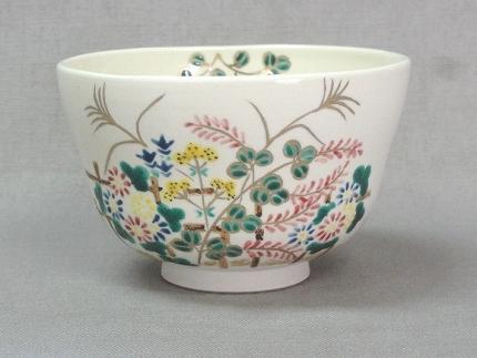 仁清色絵秋草茶碗
