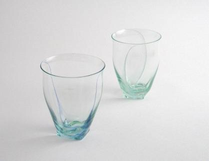 【ガラス】みずたまりペアグラス