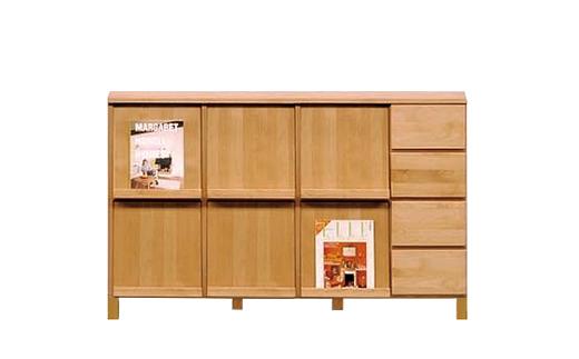 高野木工ナチュラル143マガジンラック