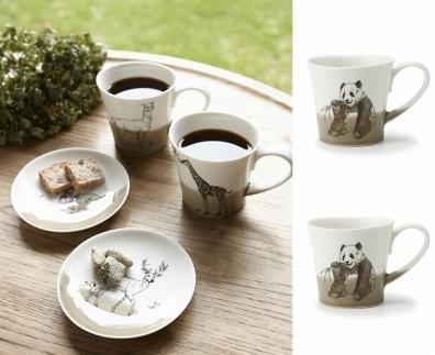 【miyama.】(パンダ×パンダ)食卓が動物園に!可愛い美濃焼のマグカップ