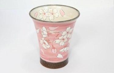 【受注生産】桜模様ロンググラス(ピンク)