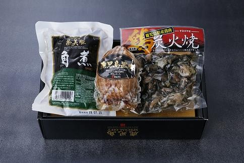 鹿児島県産鶏炭火焼・焼豚・角煮(JA-106)