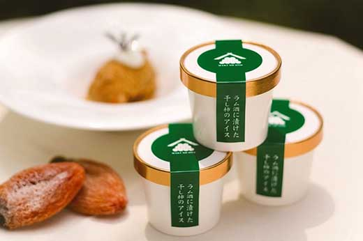 【ギフト用】富山干柿を贅沢に使用 ラム酒に漬けた干柿のアイス 6個入り
