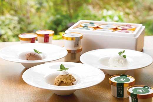 【ギフト用】干柿アイスや大吟醸のシャーベットなど、贅沢な大人のアイス 3種の味が楽しめるバラエティセット 6個入り