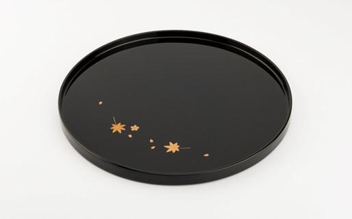 【金沢漆器】雲錦蒔絵 丸盆