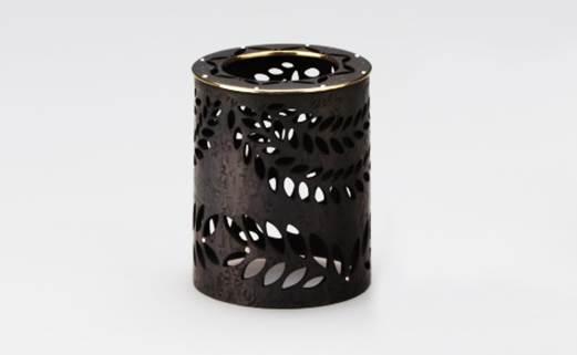 【彫金】(黒)蓋置き[laurier]