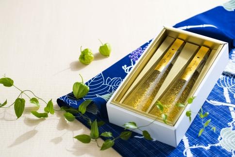 【ギフト用】【箔一】金箔入清酒・食用金箔セット