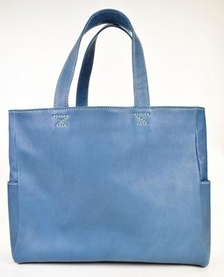 minca/Totebag02/L/BLUE(レザートートバッグ横型)