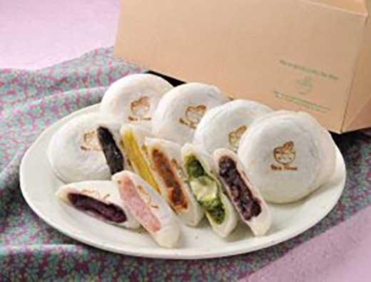 老舗お茶専門店の焼きもち(11種・16個)