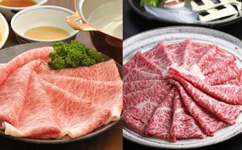 盛岡牛&もりおか短角牛しゃぶしゃぶ・すき焼きセット(計600g)