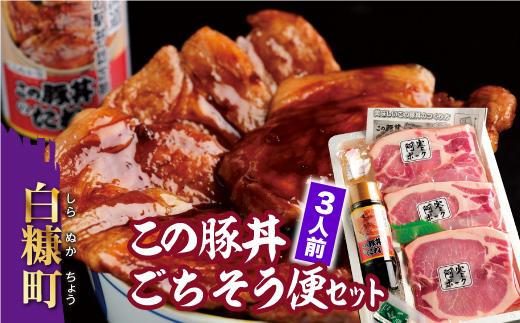 この豚丼ごちそう便セット【3人前】