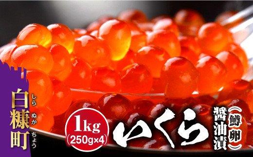 いくら醤油漬(鱒卵)【1kg(250g×2×2)】(22000円)
