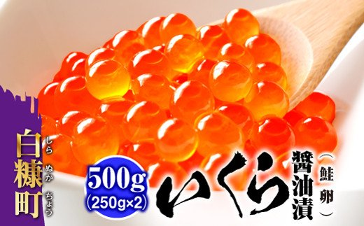 いくら醤油漬(鮭卵)【500g(250g×2)】(13000円)