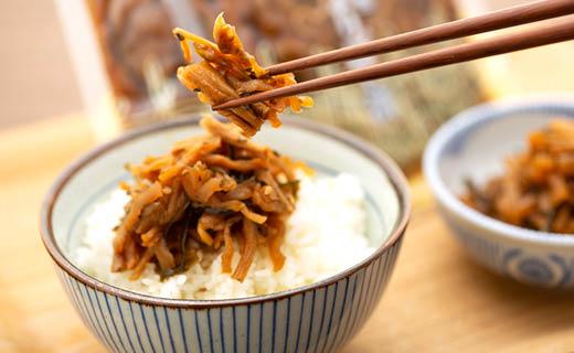【ギフトボックス贈答用】稲沢市特産よりぼし大根使用 うま味醤油漬 よりぼし漬[無添加]100gx4袋x2箱