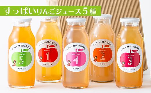 すっぱいりんごジュース【5種】セット