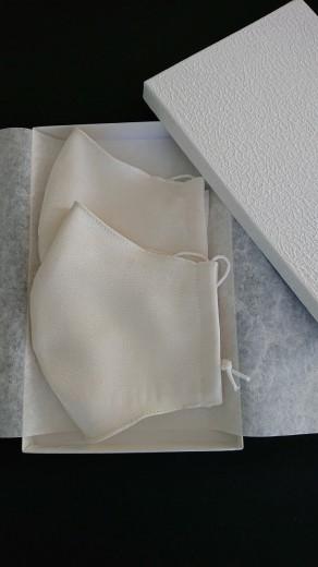 シルクマスク紗ガーゼ2枚セット 丹後シルク