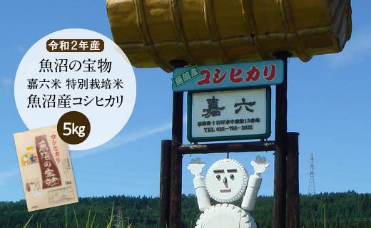 【令和2年産】(5㎏)魚沼の宝物 嘉六米特別栽培米魚沼産コシヒカリ