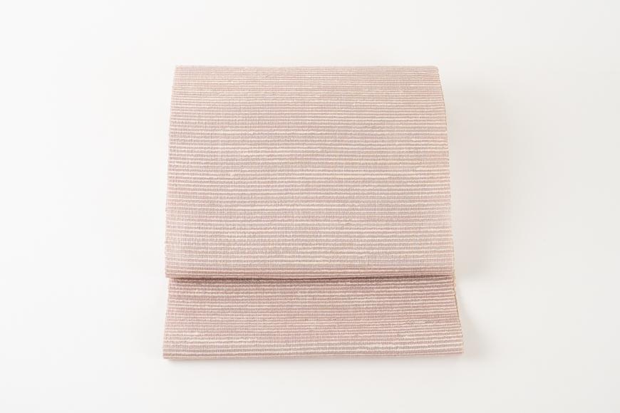 丹後の藤布 八寸名古屋帯「藤棚(紫ピンク)」全通/松葉仕立て(手先のみカガル)