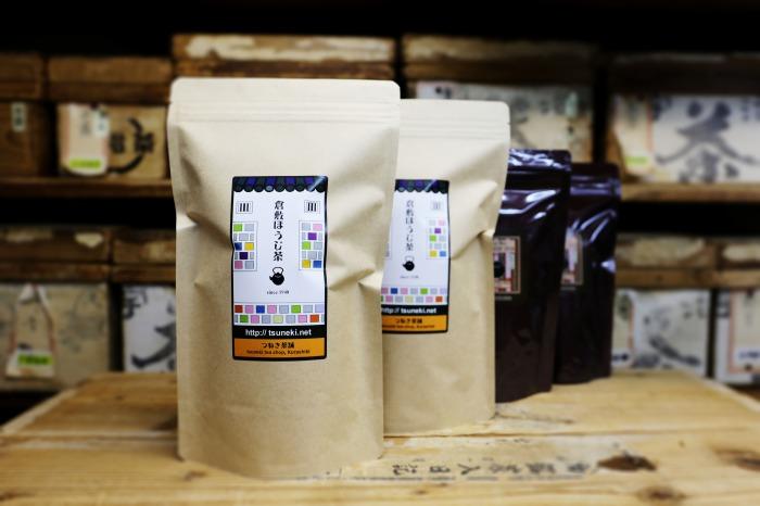 DW01【倉敷ほうじ茶】リーフタイプ2袋、ティーバッグタイプ2袋