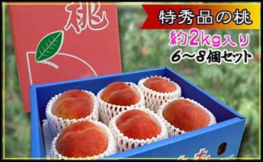 <滴る果汁とあふれる果肉が自慢>大玉の桃2kgセット【先行予約・2021年6月下旬より順次発送】