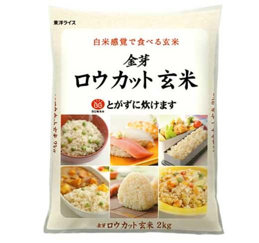 金芽ロウカット玄米(無洗米)6kg(2kg×3袋)