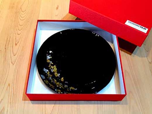 ロイヤルプレート古代塗り金箔漆黒(3枚セット)