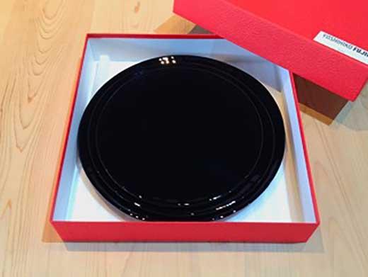 ロイヤルプレート古代塗り漆黒(3枚セット)