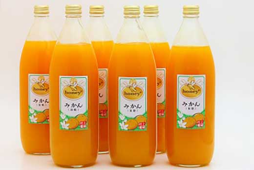 honey+みかんジュース 1000ml×6本