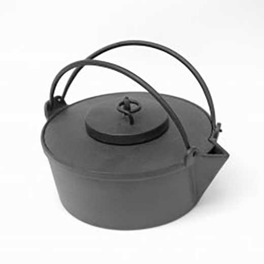 アウトドア用南部鉄器 鍋・鉄瓶兼用『鍋鉄瓶』