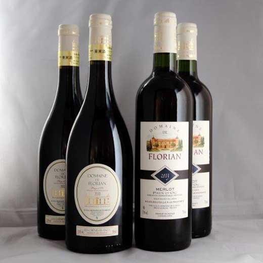 【ポイント交換専用】◇フランス産大谷地下蔵熟成ワインメルロ・シラー赤4本セット