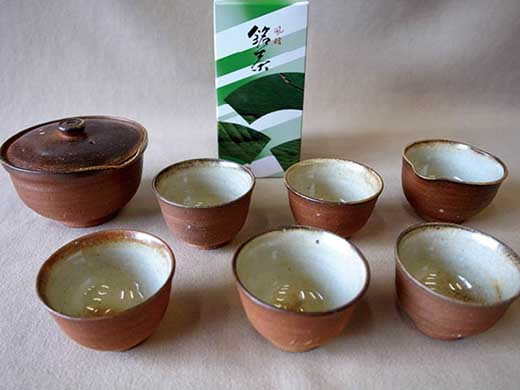 信楽焼煎茶器セット朝宮茶付