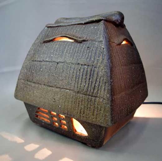 信楽焼陶灯り(くず屋型)