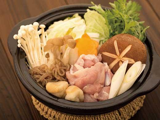 いただきます!信楽澤善の近江鶏鶏すき2人前(特製鶏ガラだれ付)