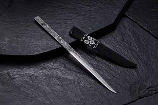 【ふるさと納税オリジナル】暗紋ペーパーナイフ(こぎん刺し鞘付)