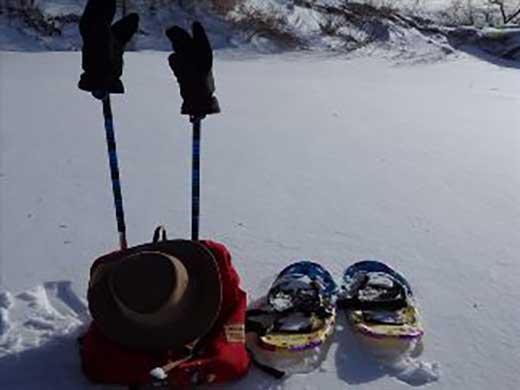冬の自然現象体験☆スノーシュー3~4時間コース☆