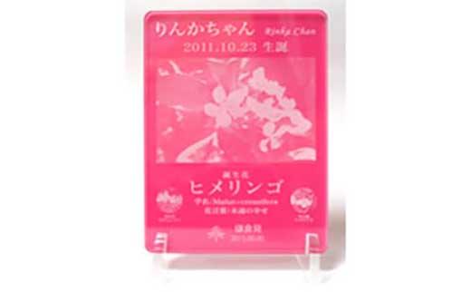 鎌倉市公園協会「プレミアム誕生花プレート」