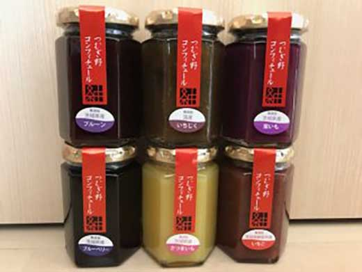 酒蔵が生産する無添加ジャム6種類詰め合わせ12本セット