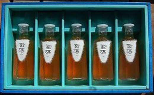 【ギフト用】日本酒で作ったこだわりの梅酒 180ml×5本入り