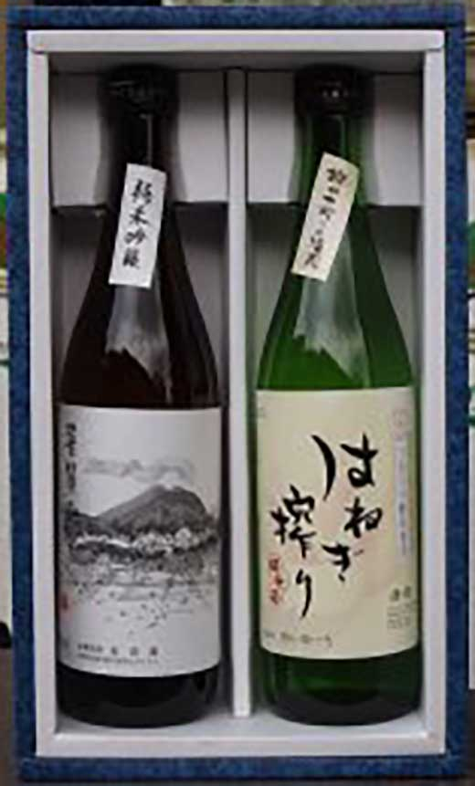 【ギフト用】全国でも珍しい『はねぎ』で搾ったこだわりの日本酒セット純吟・純米720
